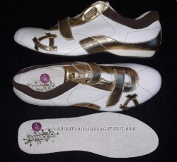 Новые белые кроссовки BAMBOO, натур. кожа р. 45, 46