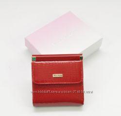 Маленький женский кожаный кошелек Mario Veronni 9026 лаковый, расцветки