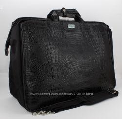 Сумка дорожная, саквояж черный кроко Refiand 88725 А