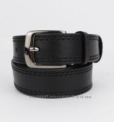 Подростковый кожаный классический ремень Red Line 05008-2 черный 30 мм