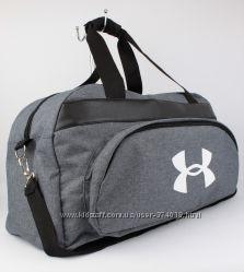 Качественная спортивная, дорожная сумка under armour 1326-1 серая уплотненн