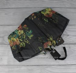 Стильный женский складной зонт полуавтомат silver rain 705-8, цветочный при