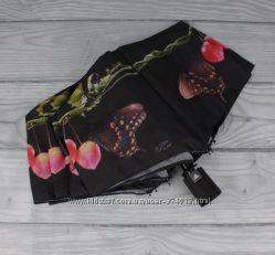 Стильный женский складной зонт полуавтомат silver rain 705-9, принт бабочки