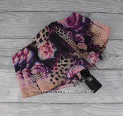 Стильный женский складной зонт полуавтомат silver rain 705-10, цветочный пр