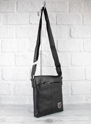 Кожаная мужская сумка через плечо, планшет рр 711-1 малая, 22204 см