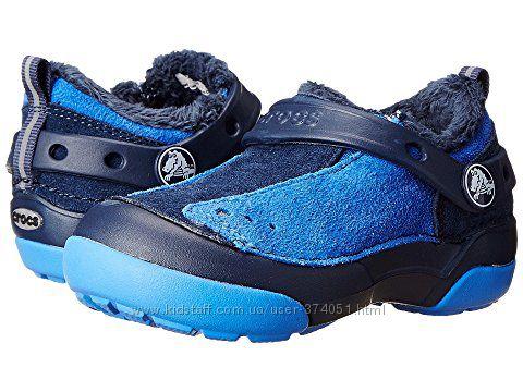 Ботинки с мехом Crocs оригинал р. 7 Toddler стелька 14см