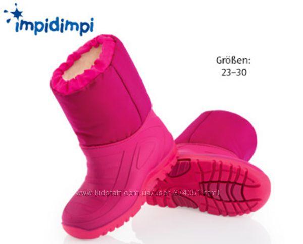 Детские зимние сноубутсы немецкие фирмы Impidimpi р. 26-стелька 16см