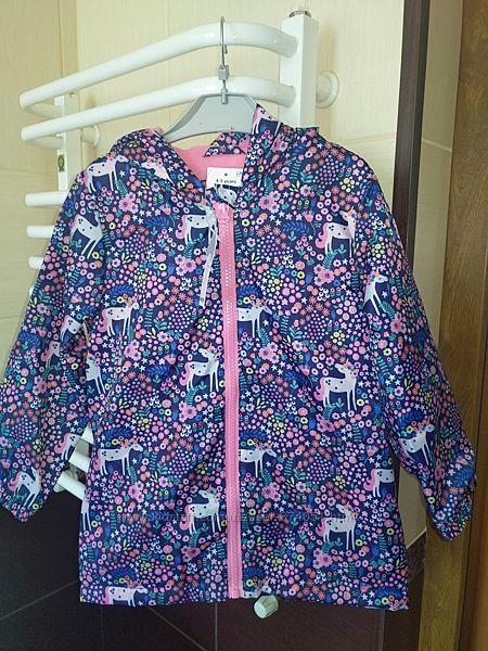 Новая демисезонная куртка с единорожками Matalan р. 4-5 лет 110см