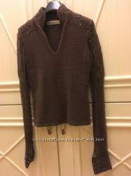 Французский свитер с шелковыми рукавами.