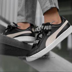 Шкіряні кросівки-снікери Puma basket heart de wn&acutes, Оригінал