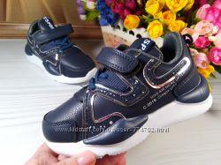 Кроссовки для мальчика и девочки реплика supreme синие р-р 26-31