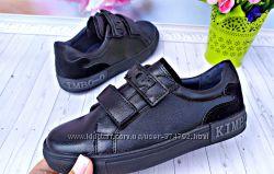 Туфли кеды, кроссовки р-р 31-36 черные фирма kimbo