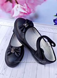 Туфли на девочку черные р-р 26-31 фирма bessky