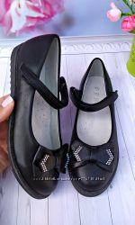 Туфли школьные на девочку черные р-р 30-37 фирма bbt