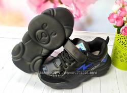 Кроссовки черные с синим р-р 25-30 фирма angel violetta