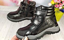 Зимние ботинки на мальчика р-р 27-32 фирма сказка , черные
