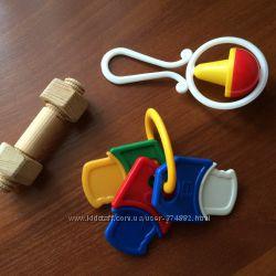 погремушки детские 3 штуки