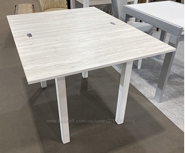 Стол кухонный раскладной Ажур Аляска/Белый