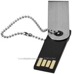 Флешка с цепочкой 16 Gb металлическая