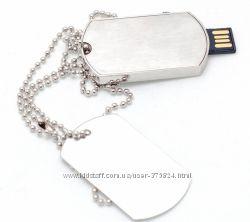 Флешка 8 Gb в виде военного жетона, металлическая