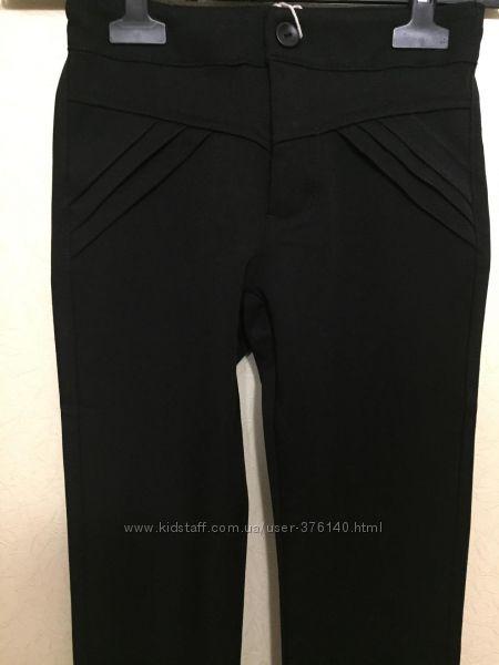 Стильные черные брючки для девочки Yuke