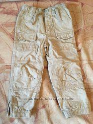 Хлопковые штанишки на трикотажной подкладке, GAP, размер 3 года, 100 см