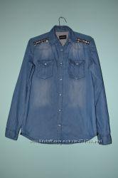 Фирменная джинсовая рубашка Sixth June. 100 хлопок.