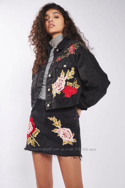 Стильная джинсовая куртка Topshop. Размер M-L