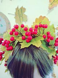 Осенний венок Калина
