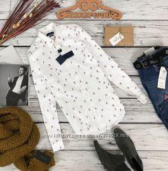 Мужская рубашка с трендовым принтом от Zara  BL5391