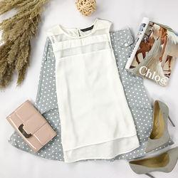 Базовая блуза с прозрачными вставками  BL1950011, BL1950003