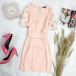 Красивое платье в силе бохо цвета нюд  DR1952007, DR1952002