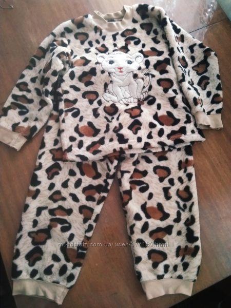 Махровая пижамка 104-110