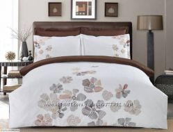 Комплект постельного белья ЕВРО Сатин Home Line Цветы - ассортимент