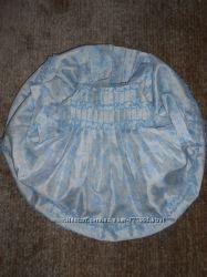 Нарядное бело-голубое платье