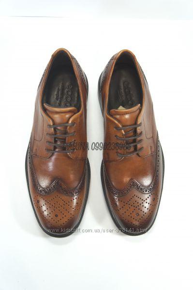 Кожаные туфли броги Ecco Lisbon оригинал. 39, 39 р.