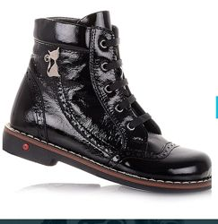 Лаковые ботинки ортопедическая подошва cezara rosso сапожки