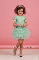 Нарядные платья-комплекты блуза и юбка рост 116-128см в наличии