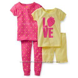 Комплект с 2-их пижамок для девочки Carters США возраст 3, 4 года в наличии