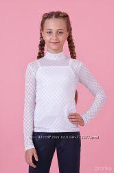 Школьные блузы с майкой Зиронька 8024, 8025, 8026 рост 122-152см в наличии