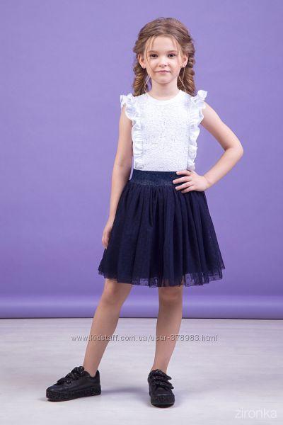 Юбки школьные в синем и в черном цвете 30-9044 рост 122-158см в наличии