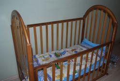 Кроватка детская с матрасом и защитой бу