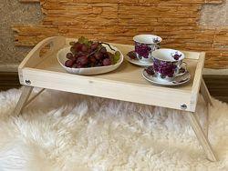 Деревянный поднос, столик в постель