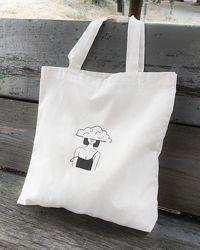 Эко-сумка для покупок. прогулок и пляжа с рисунком ручной работы
