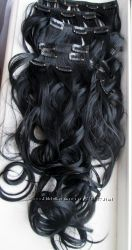 Волосы термо на заколках. Огромная палитра оттенков