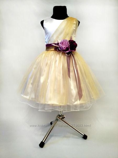 Нарядное платье в золоте