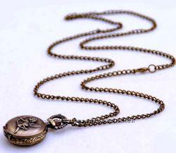 Кварцевые карманные часы-ожерелье Купидон
