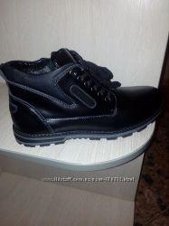 Мужские зимние ботинки кожаные
