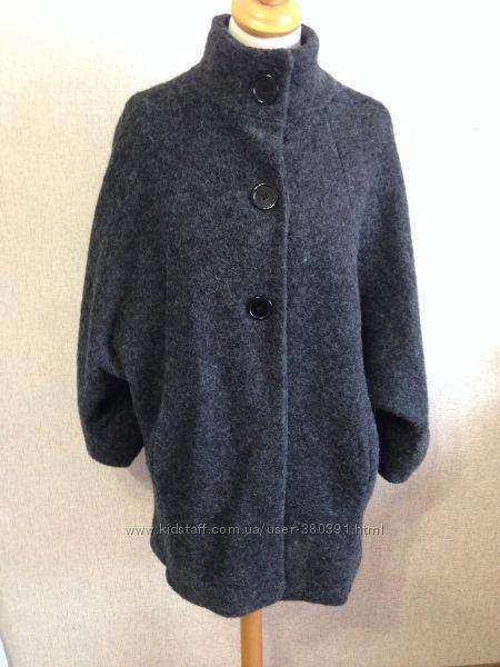 Пальто жен. оверсайз, р. ML, шерсть, Италия
