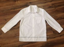 Рубашка F&F белая, можно близняшкам, р. 128-134